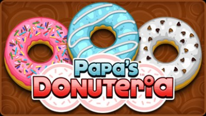 papa's donuteria , cooking games, donut games, papa louie games