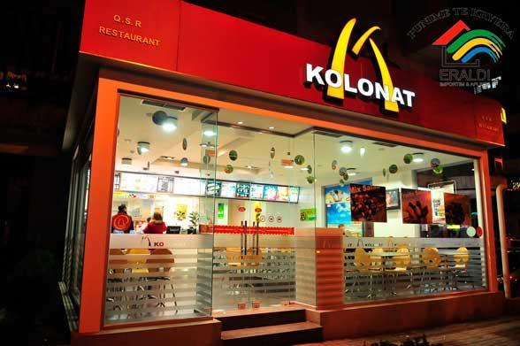 kolonat, albania, southeastern europe, mcdonalds, tirana, capital of albania