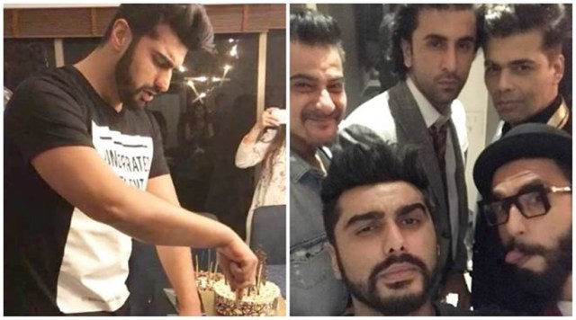 Arjun Kapoor, Birthday, Karan Johar, Ranveer Singh, Sanjay Kapoor, Ranbir Kapoor, Boys, Men, Bollywood, Movies, Surprise, Birthday Bash, Celebrities, Stars
