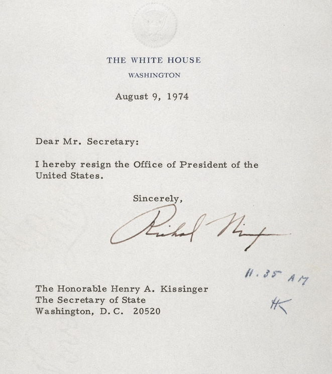 Richard Nixon Resignation Letter Gallery - Letter Format Formal Sample