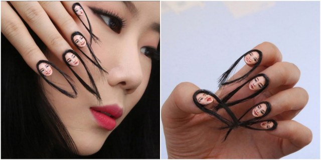 hair, nails, Dain Yoon, internet, trend, viral, artist, beauty, hand-painted, mood, imagine, portrait, selfie, glued, amazing, miniature, realistic, finger