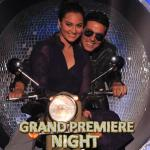 Akshay riding a bike with Sonakshi - entry shot