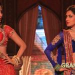 Puja and Mouni competing on a song