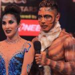 Deepak is dressed as beast while Sophie as beauty