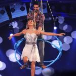 Shakti dances effortlessly and performs an aerial act with ease