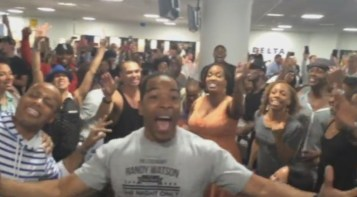 The Lion King   Aladdin Broadway Casts Airport Sing Off   YouTube