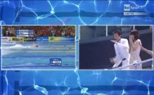 世界水泳での松岡修造の熱い応援がイタリアで注目!