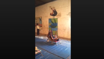 Two Young Acrobats Known As The Yeneta Brothers Pull Off An Epic Stunt