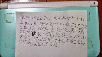 8歳の男の子が宝物の3DSを水没・・・任天堂に宛てた手紙から本当に大切にしていたのが伝わってくる