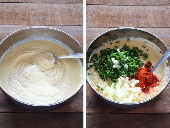 Massa e ingredientes