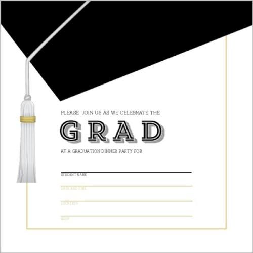 Medium Of Graduation Invitation Templates