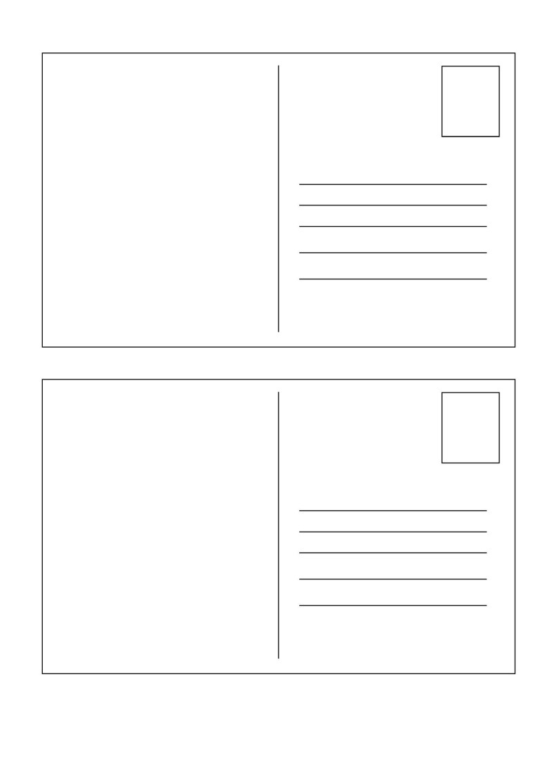 Large Of How To Fill Out A Postcard