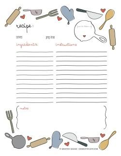 Small Of Recipe Book Template