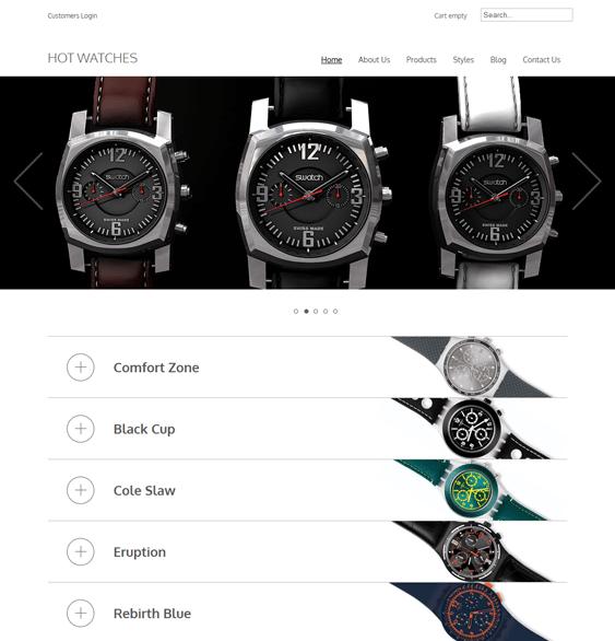hot watches minimal virtuemart themes