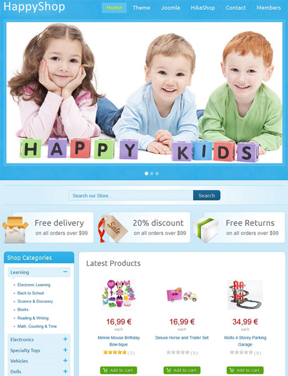it happyshop kids joomla templates