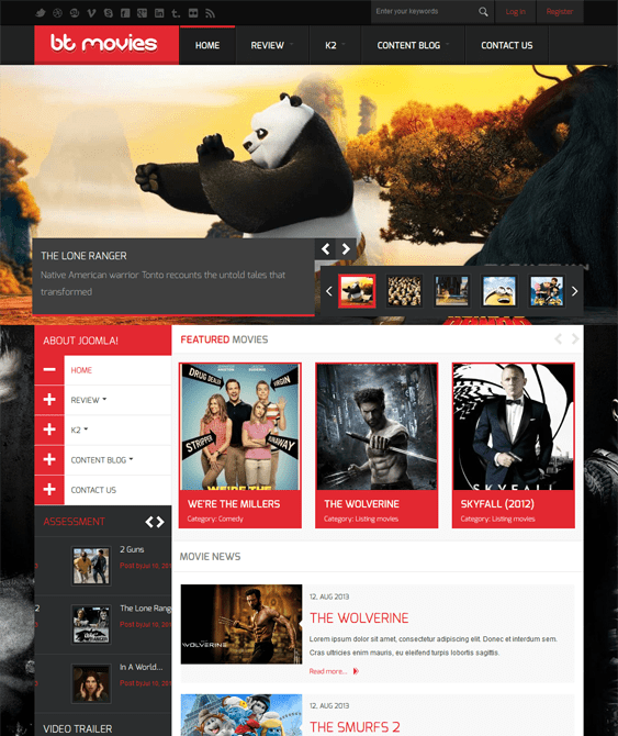 bt movies joomla template