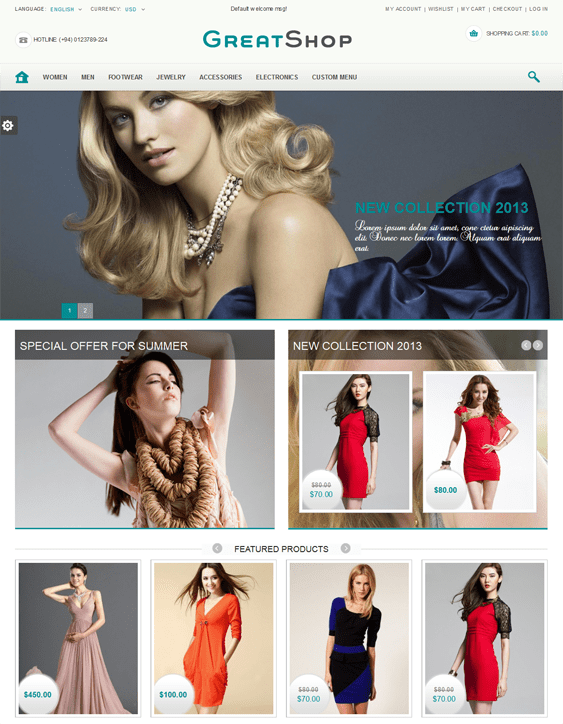 great shop bootstrap magento theme