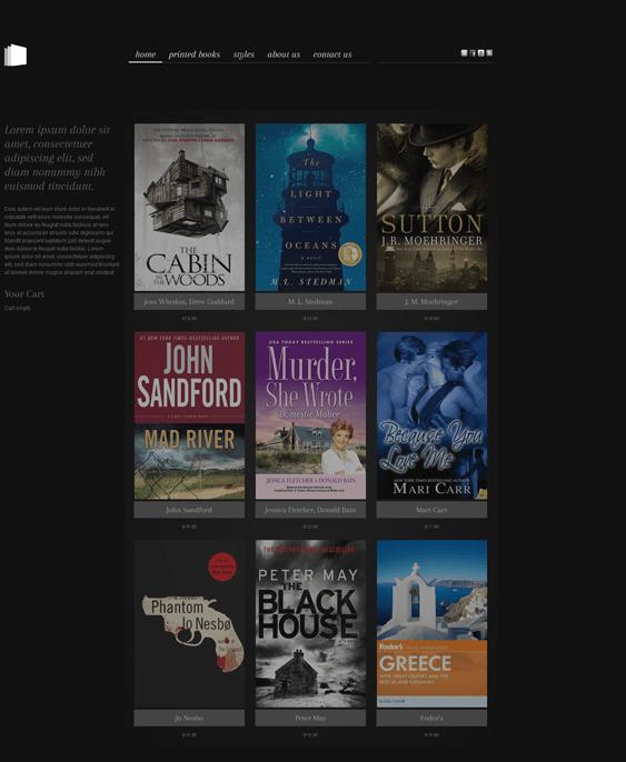 hot bookstore minimal virtuemart themes