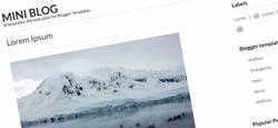 more free premium minimal blogger templates feature