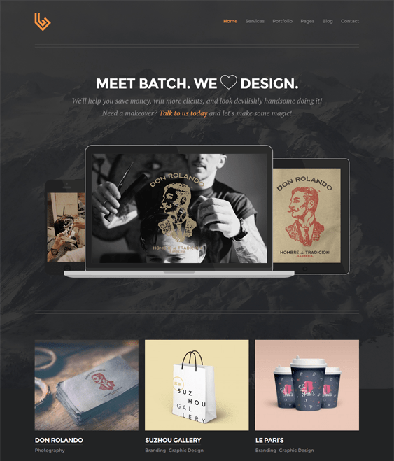batch dark wordpress theme