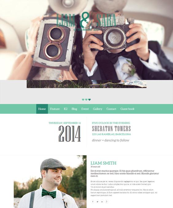 noo wedding event joomla template