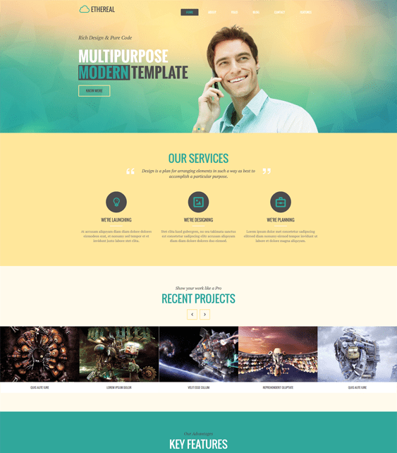 ethereal parallax drupal theme