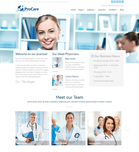 procare medical wordpress theme