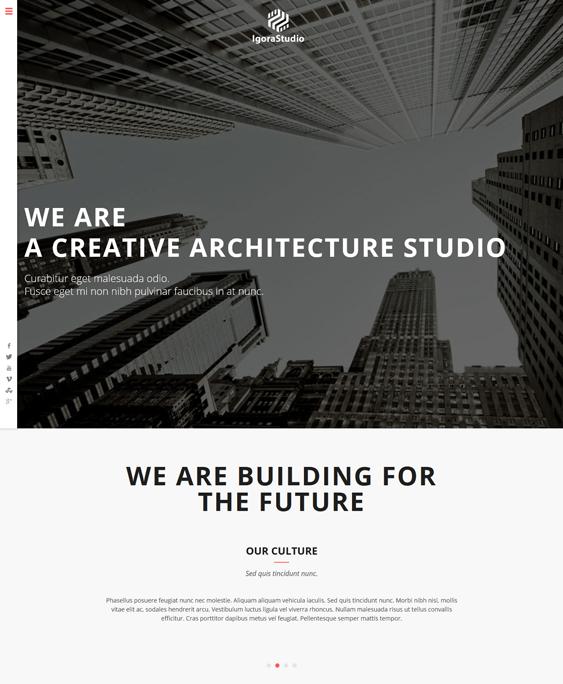 igora architect wordpress theme
