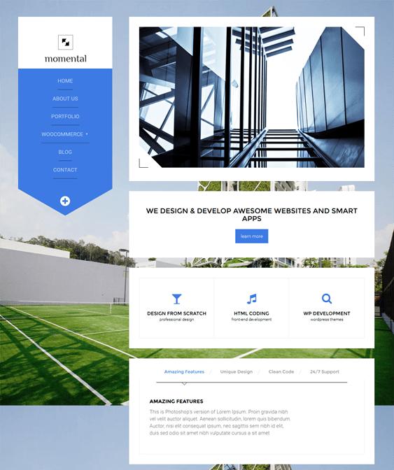 momental architect wordpress theme