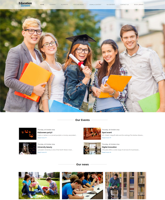educationstreem education joomla templates