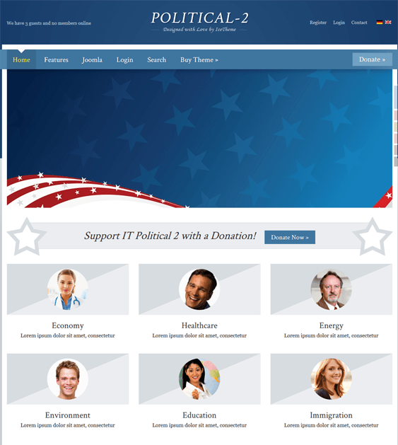 it political 2 political joomla templates