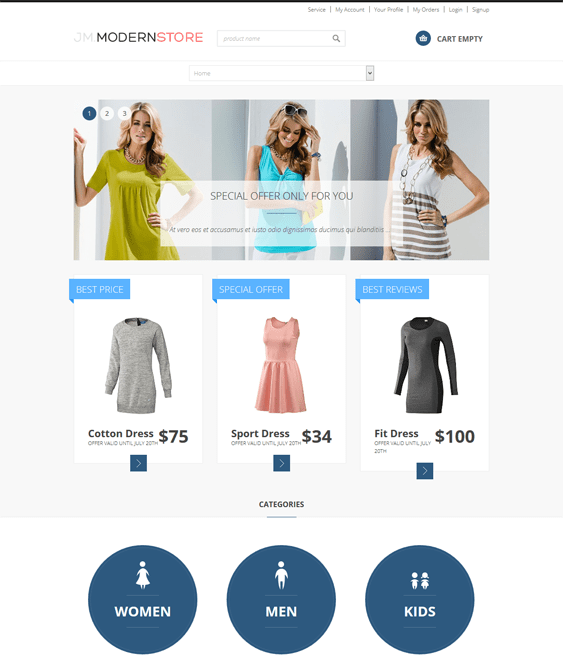 modern virtuemart joomla theme