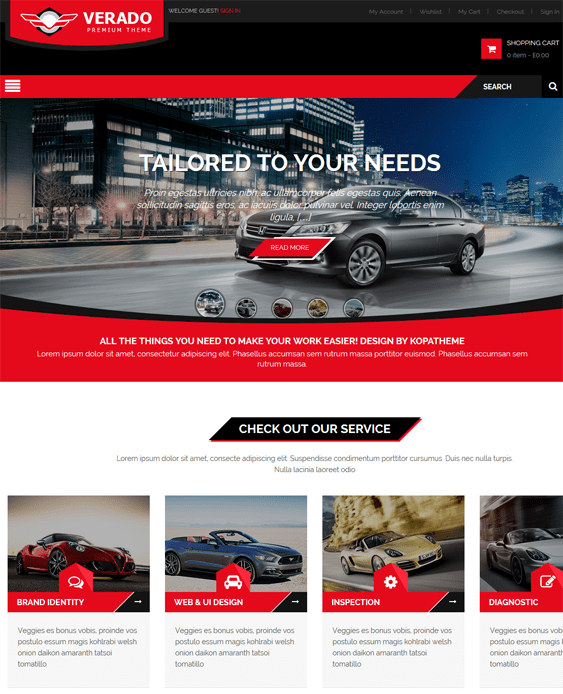 verado car vehicle automotive wordpress theme