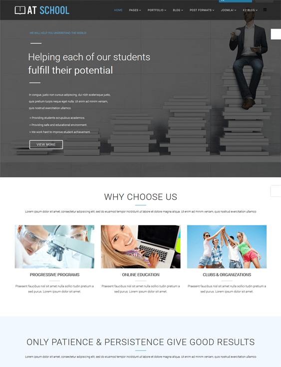 at school education joomla theme