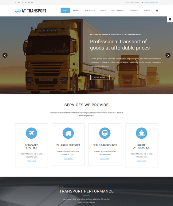 at transport car vehicle automotive joomla templates