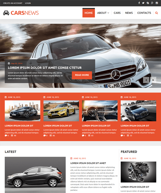 auto highlights car vehicle automotive joomla templates