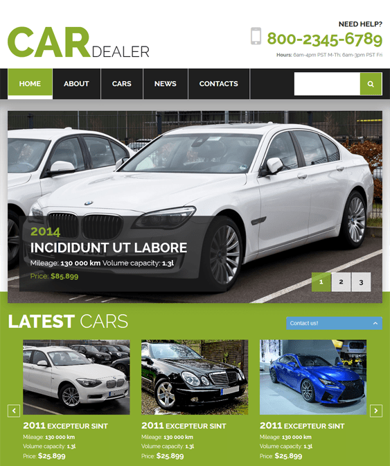 car dealer car vehicle automotive joomla templates