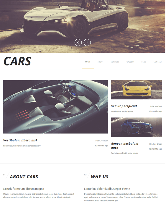 luxurious car vehicle automotive joomla templates