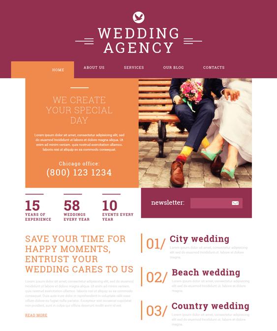 wedding joomla templates agency