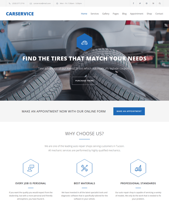 car vehicle automotive wordpress themes service