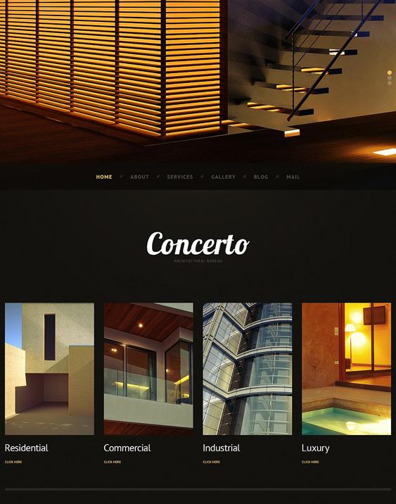 dark architect wordpress themes