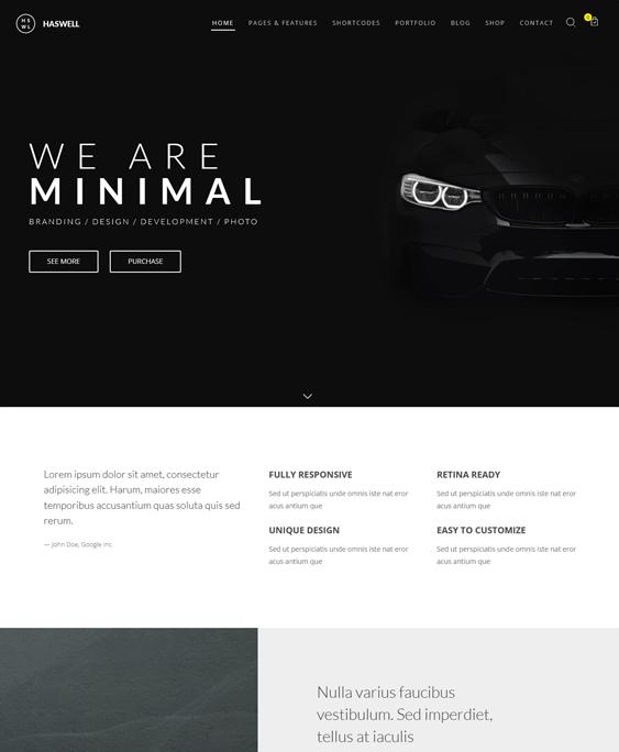 haswell car vehicle automotive wordpress themes