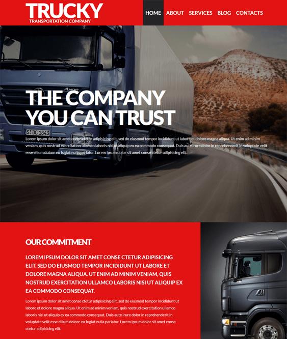 logistics transportation wordpress themes