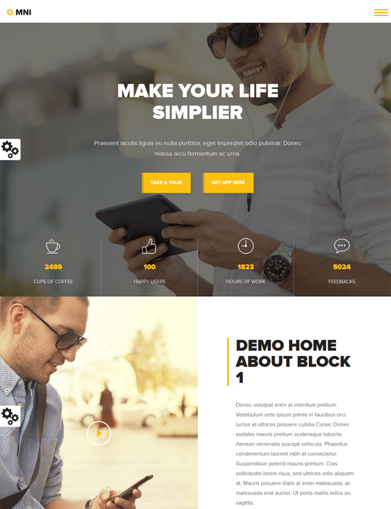 omni one page drupal themes