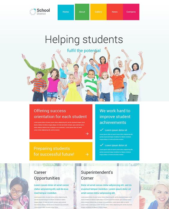 school district education wordpress themes
