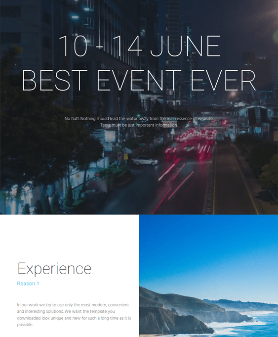 select events wordpress themes