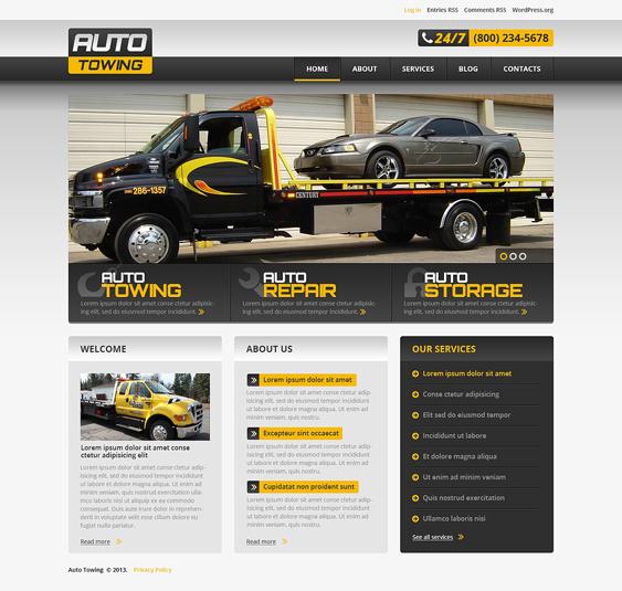 successful car mechanic repair shop wordpress themes