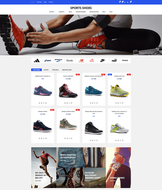 sports shoe store shopify themes