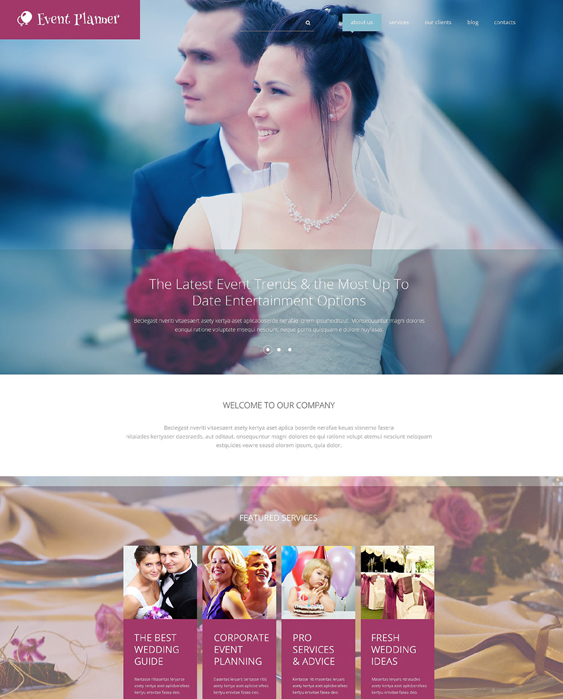 event planner wedding drupal themes