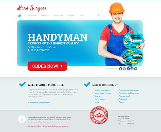 maintenance handyman wordpress themes